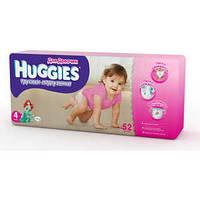 Трусики-Подгузники Huggies Little walkers для девочек 4 (9-14 кг) 52 шт.