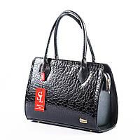 Модельная черная сумка в каплях дождя