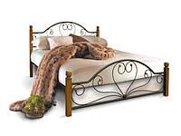 """Металлическая кровать """"Джоконда"""" на деревянных ножках"""