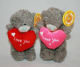 Мишка плюшевый маленький Тедди с сердцем Сонечко