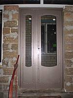 Двери полуторные входные металлические