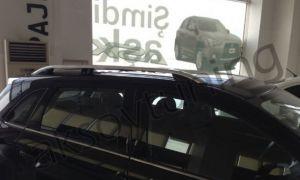 """Рейлинги Mitsubishi ASX 2010+  Crown (тип skyport), сплошный алюминий, цвет """"Серый мат"""""""