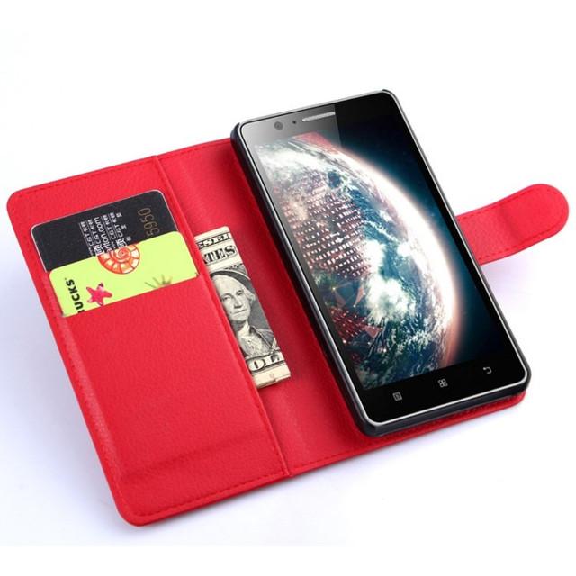 чехол книжка на Lenovo a536 красный
