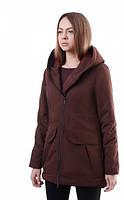 Зимняя теплая женская куртка ( парка )  W3 MAR  URBAN PLANET (коричневая) 010021448
