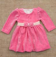 Платье нарядное Красуня д.р. Велюр цвет розовый, фиолетовый, кофейный  размер 74-92 Бетис