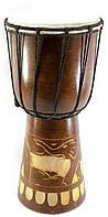 Барабан ручной резной из дерева
