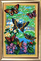 Набор для вышивки бисером Порхающие бабочки 110