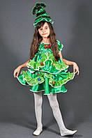 Сказочный новогодний костюм Ёлочка для девочек, р.98-146 возраст 2-13 лет