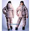 Зимний детский костюм для девочки из плащевки, фото 2
