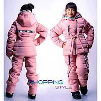 Зимний детский костюм для девочки из плащевки