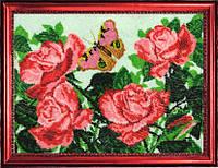 Набор для вышивки бисером Бабочка и розы 117