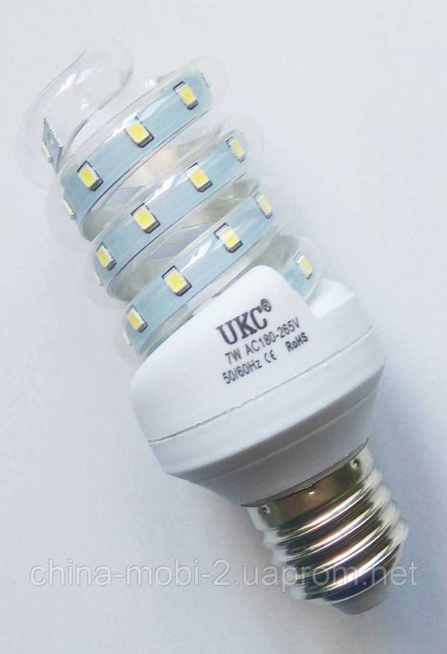 Светодиодная лампа LED UKC 220V 7W E27 Спиральная 4023