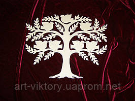 Дерево с птичками, декор