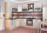 Кухня серая, высокая изготовление вариант-012, фото 1