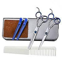 Набор профессиональных парикмахерских ножниц в футляре