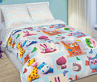 Подростковое постельное белье Плюшевый мир, поплин 100%хлопок - полуторный комплект