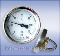 Термометр биметаллический трубный ТБТ, фото 2