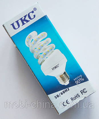 Светодиодная лампа LED UKC 220V 5W E27 Спиральная 4022, фото 2