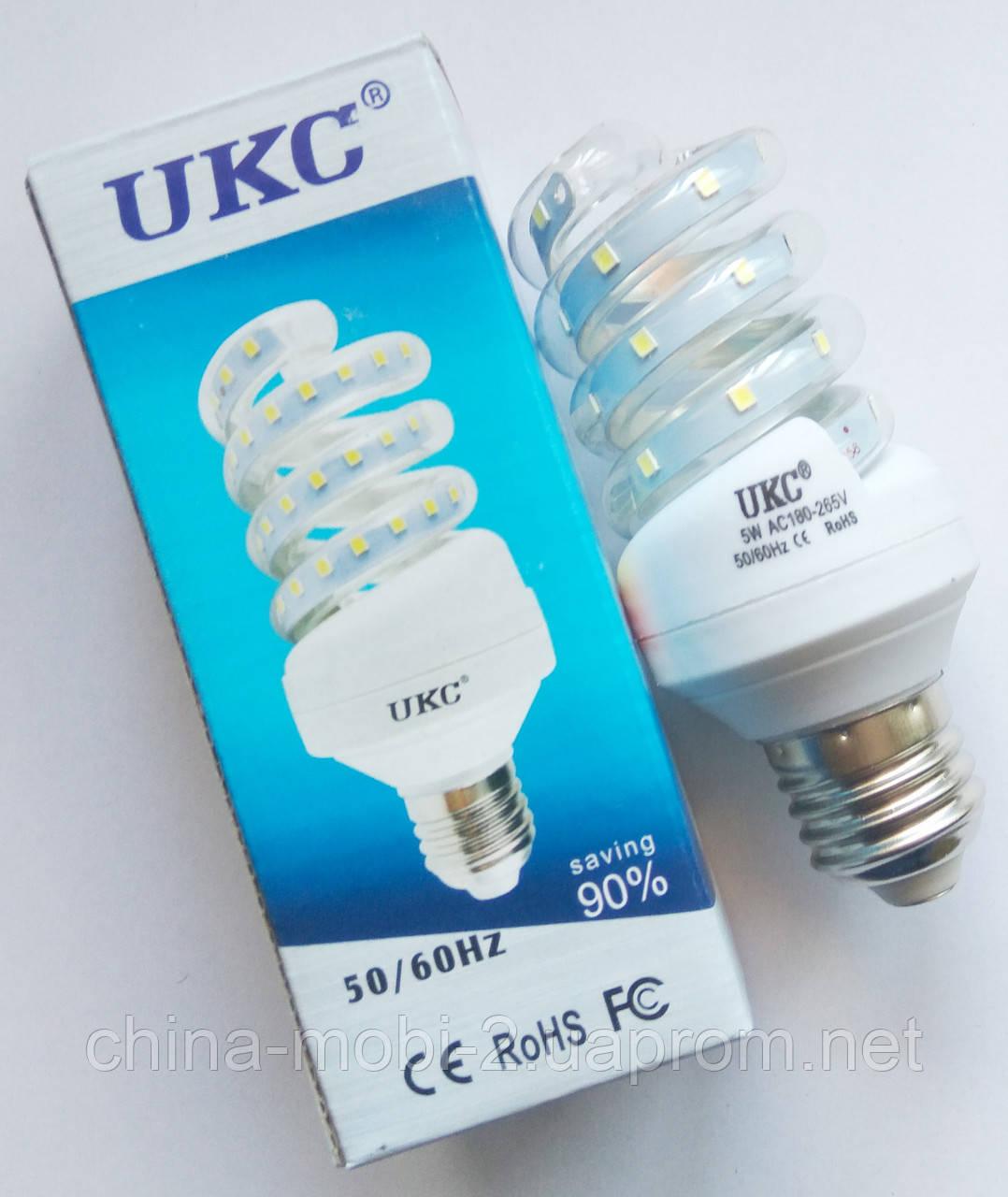 Светодиодная лампа LED UKC 220V 5W E27 Спиральная 4022