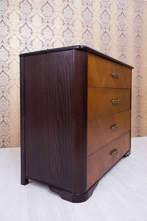 Комод из массива бука Ассоль Микс мебель, цвет темный орех + светлый орех, фото 2