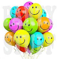 Воздушные шарики Gemar Смайл ассорти 19' (48 см), 50 шт