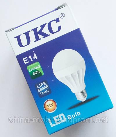Светодиодная лампа LED UKC 220V 3W E14 круглая, фото 2