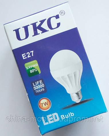 Светодиодная лампа LED UKC 220V 7W E27 круглая, фото 2
