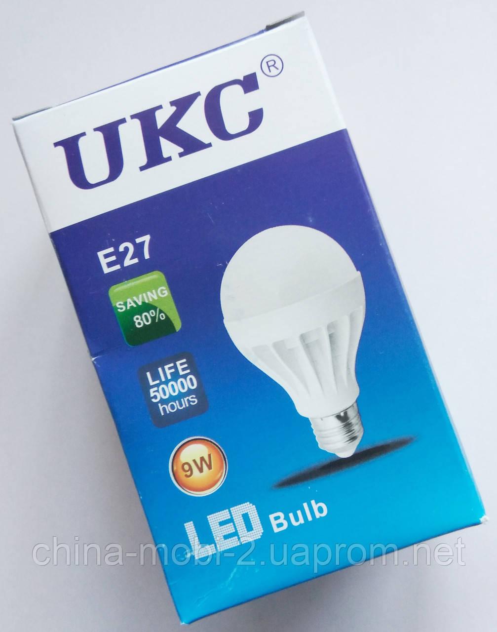 Светодиодная лампа LED UKC 220V 9W E27 круглая