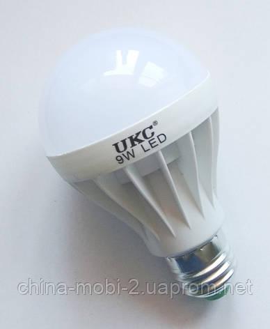 Светодиодная лампа LED UKC 220V 9W E27 круглая, фото 2