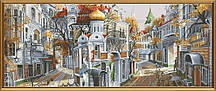 Набор для вышивания нитками на белой канве Обратная сторона столицы РЕ 0335