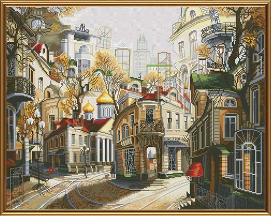 Набор для вышивания нитками на белой канве РЕ2337 Легенды старых улиц