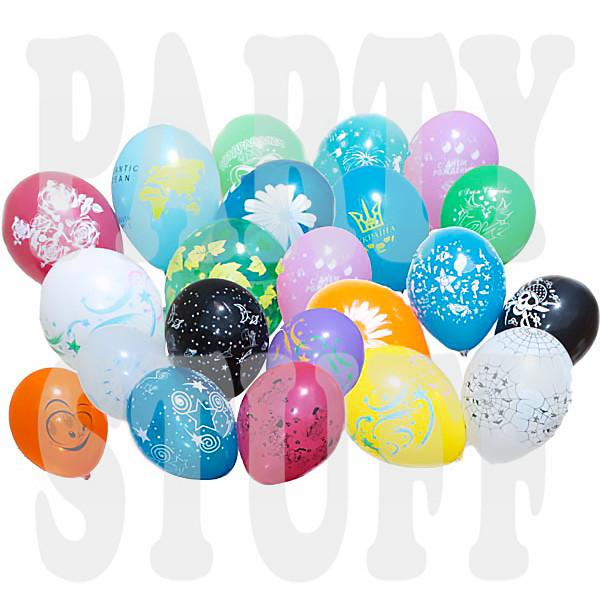 шарики с шелкотрафаретной печатью 12 дюймов