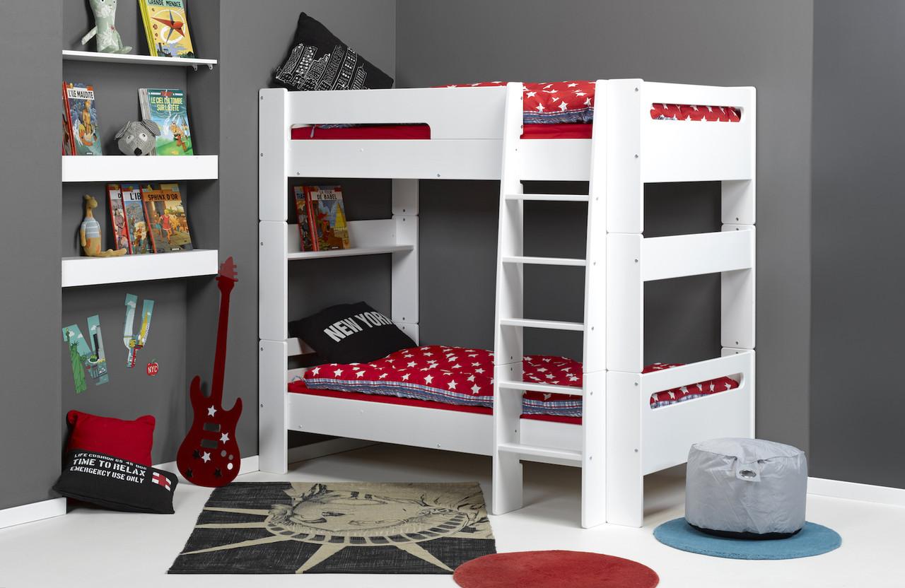 Двухъярусная кровать  для подростков Junior Provence  Lit Superpose LONDON Blanc
