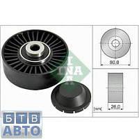 Ролік паразітний ремня генератора (з кондиціонером) Fiat Doblo 1.9D-1.9JTD 2000-2011 (Ina 532 0370 20)