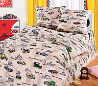 Подростковое полуторное постельное белье Авто Круиз, бязь ГОСТ 100%хлопок