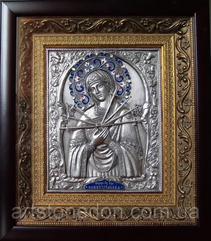 Икона в ризе Семистрельная Пресвятая Богородица