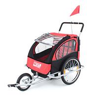 Туристический велотрейлер (велоприцеп) пассажирский JOGGER 2in1 трехколесный