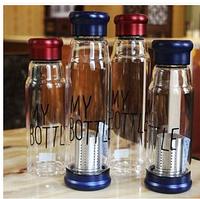 Бутылка My Bottle 33.2 стеклянная с ситечком для заварки синего цвета