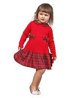 """Платье  детское с длинным рукавом   М -1078 рост 86 92 98 и 104 трикотажное разных цветов тм """"Попелю, фото 1"""