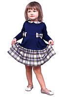 Платье  детское с длинным рукавом   М -1078 рост 86-104 трикотажное разных цветов, фото 1