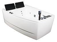 Ванна VOLLE асимметричная с гидро и аэро массажем 1700*1200*630мм, левая, акриловая