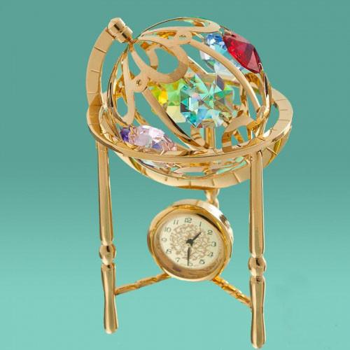"""Настольные часы-статуэтка с кристаллами Swarovski """"Глобус"""" - Soroka в Запорожье"""