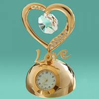 """Настольные часы-статуэтка с кристаллами Swarovski """"Love"""""""