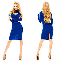 """Облегающее трикотажное миди-платье """"Жасмин"""" с декольте и длинным рукавом (5 цветов), фото 3"""