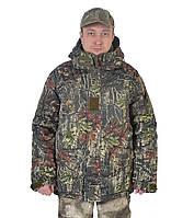 Бушлат камуфляжный зимний для охоты и рыбалки - Осенний лес