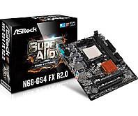 Мат.плата AM3+ (nForce 630a) ASRock N68-GS4 FX R2.0, GeForce 7025 / nForce 630a, 2xDDR3, GeForce 7025 (256Mb), 4xSATA2, 1xPCI-E 16x, 1xPCI-E 1x,