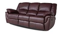 """Кожаный раскладной диван  """"ALABAMA"""", бордовый (199см)"""