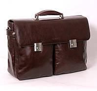 Бескаркасный мужской кожаный портфель SHEFF (S5003 Brown)