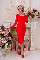 """Платье """"Альтера джерси"""" Красный 13"""