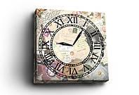 """Часы - картина  """"Винтаж"""", 30х30 см. Украина!"""